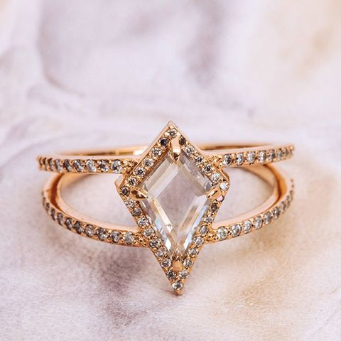 The Beatrix Ring in Shield Cut