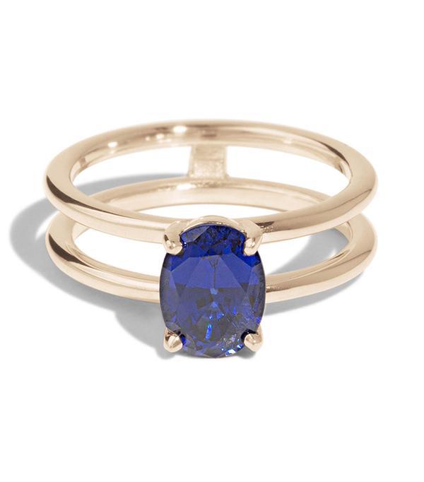 Bario Neal Custom Double Band Sapphire Ring