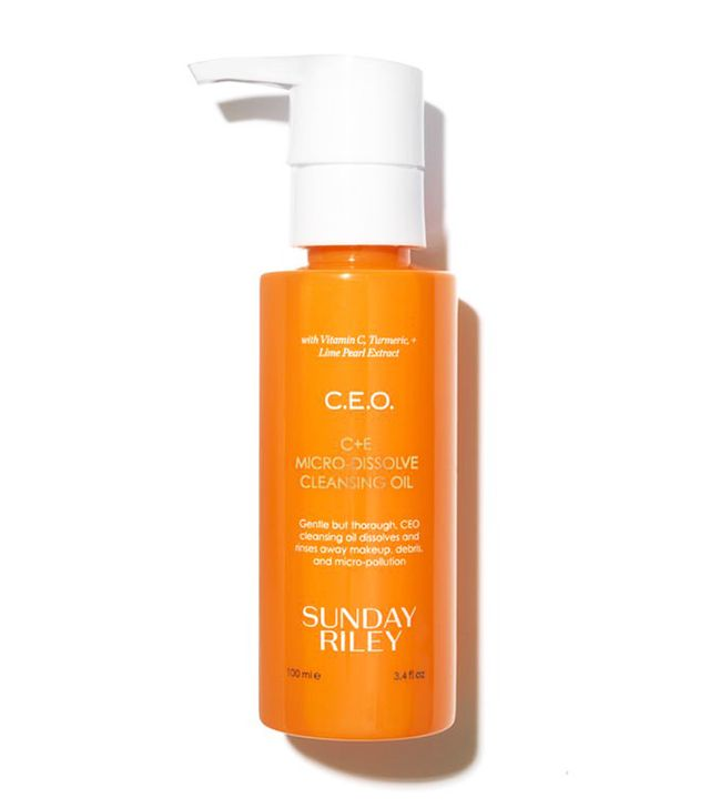 Best cleansing oil: Sunday Riley C.E.O. C + E Micro-Dissolve Cleansing Oil