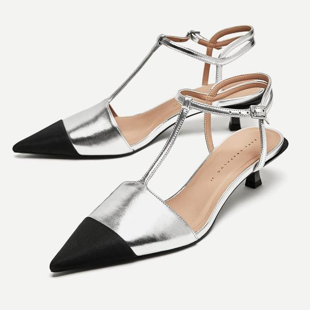 Zara T-Bar Court Shoes