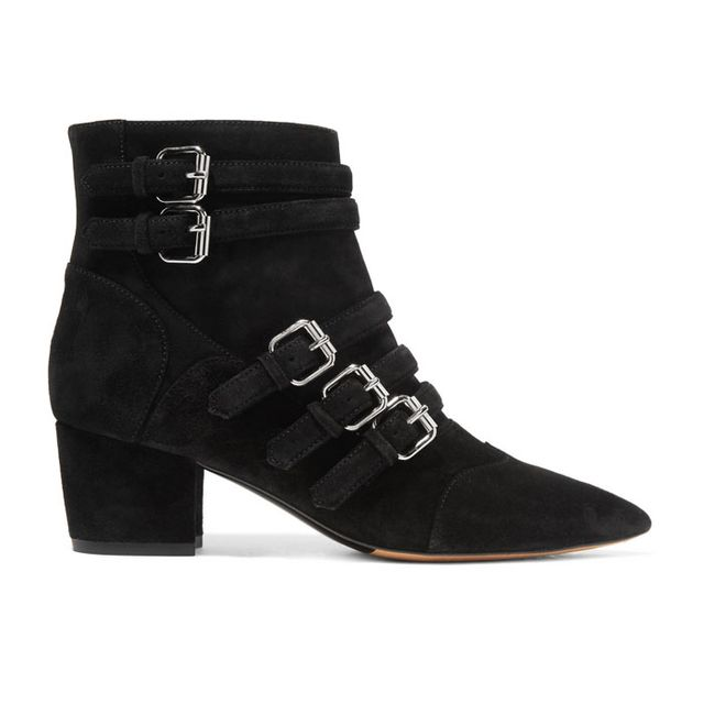 Tabitha Simmons Christy Buckled Suede Ankle Boots