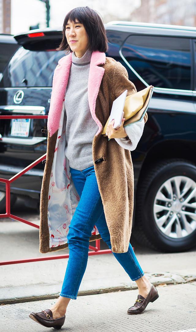 eva chen jeans street style
