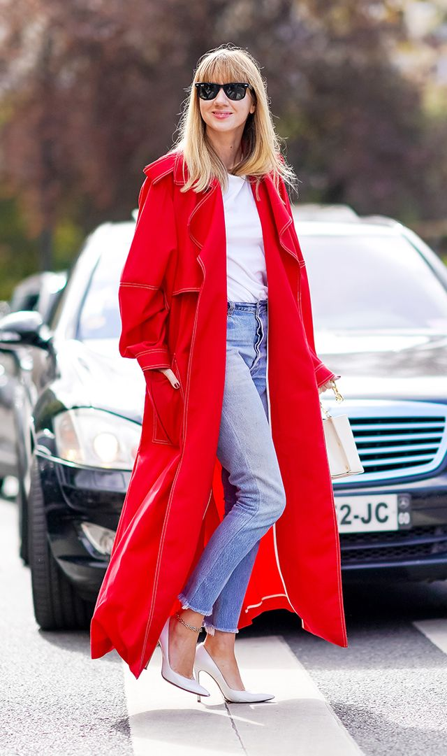 fall work outfit idea with jeans