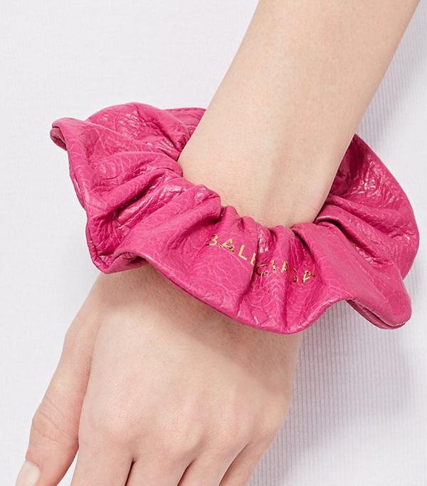 Women's Arena Leather Chouchou Bracelet