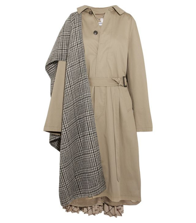 Balenciaga Oversized Paneled Cotton-Twill Trench Coat