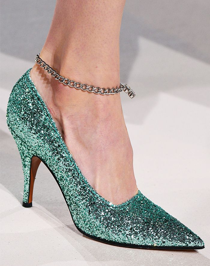 Best stiletto pumps: Victoria Beckham glitter heels