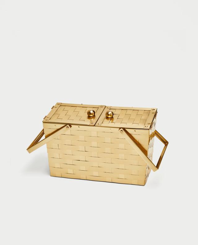 Zara Metallic Basket