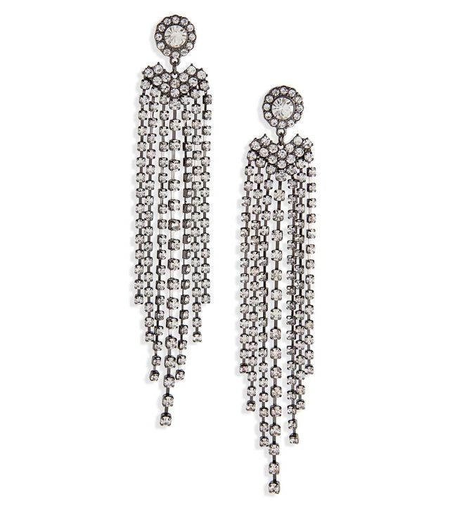 BP. Crystal Fringe Drop Earrings