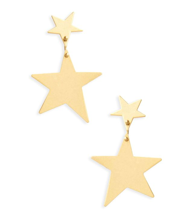 Statement Star Drop Earrings