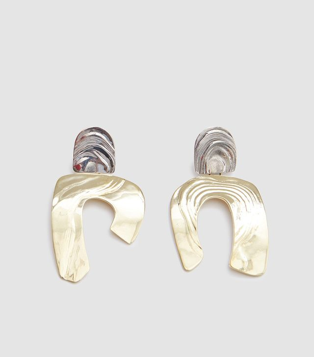 Totem Earrings in White Bronze/Brass