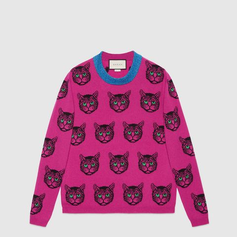 Mystic Cat Wool Cashmere Knit Sweater