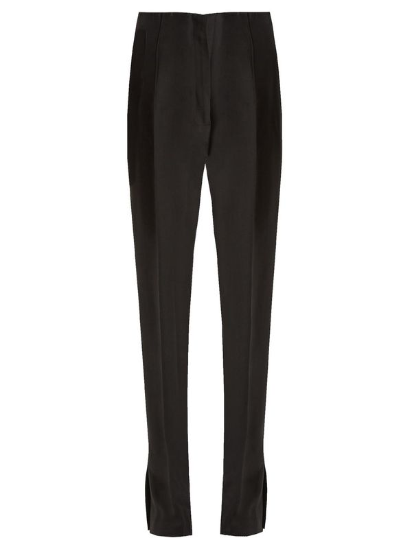 Gertrude high-rise twill trousers
