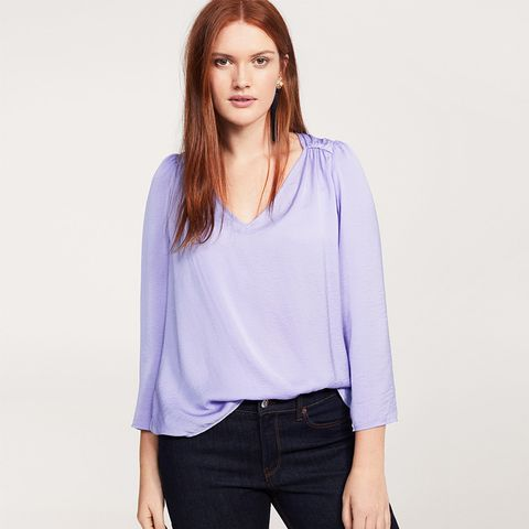 Ruched Satin Blouse