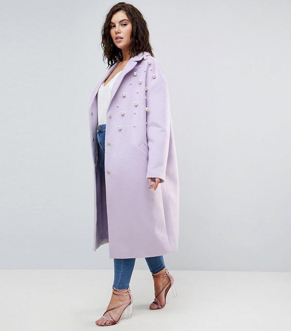 ASOS CURVE Pearl Soft Coat