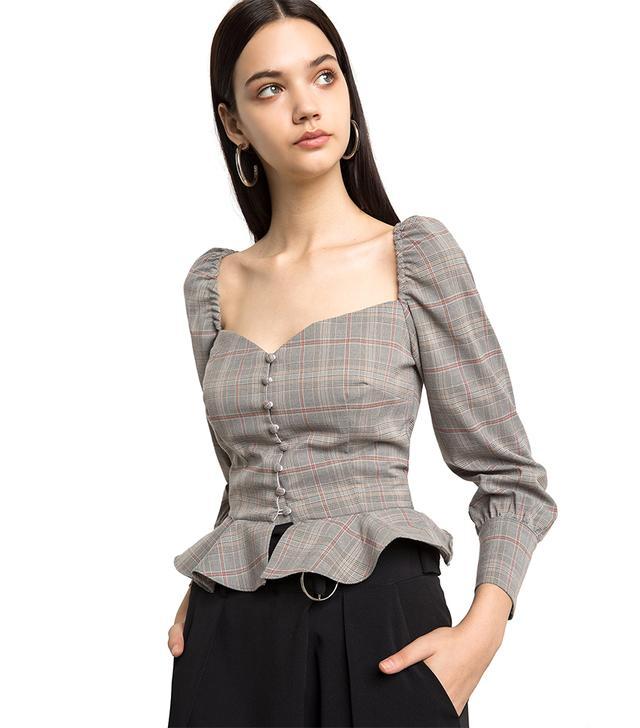 Pixie Market Valentina Bustier Shirt