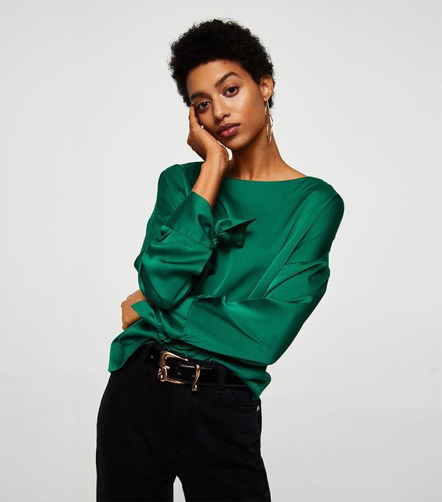 Bow sleeve blouse