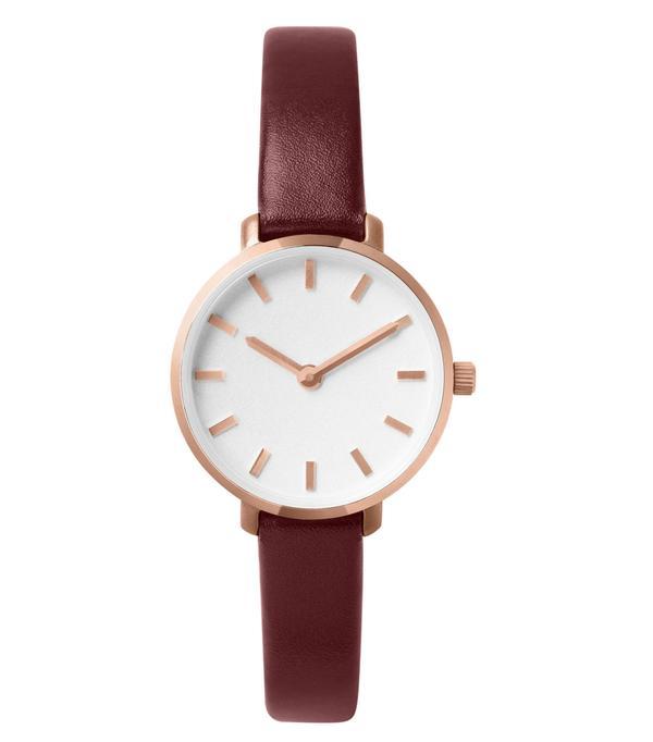 Women's Breda Beverly Round Leather Strap Watch