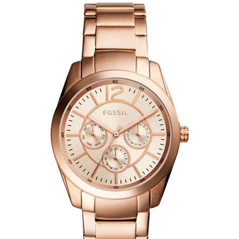 Brenna Rose Gold-Tone Stainless Steel Bracelet Watch
