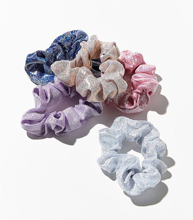 Days Of The Week Scrunchie Set - Blue One Size at Urban Outfitters