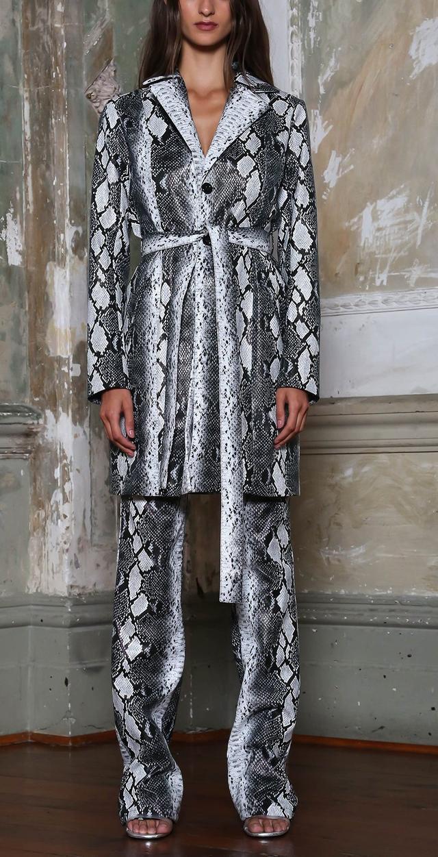 Snakeskin print jacket