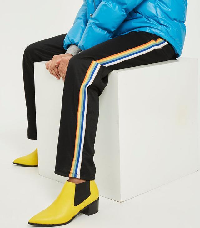Topshop Rainbow Side Stripe Track Pants