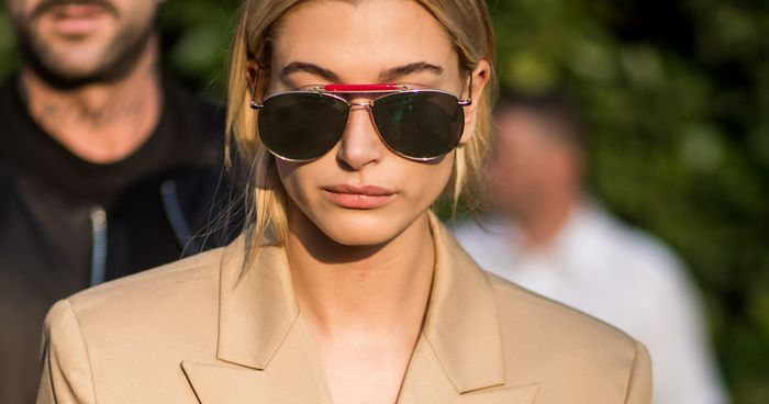Hailey Baldwin Just Wore The Most Amazing Rainbow Trousers