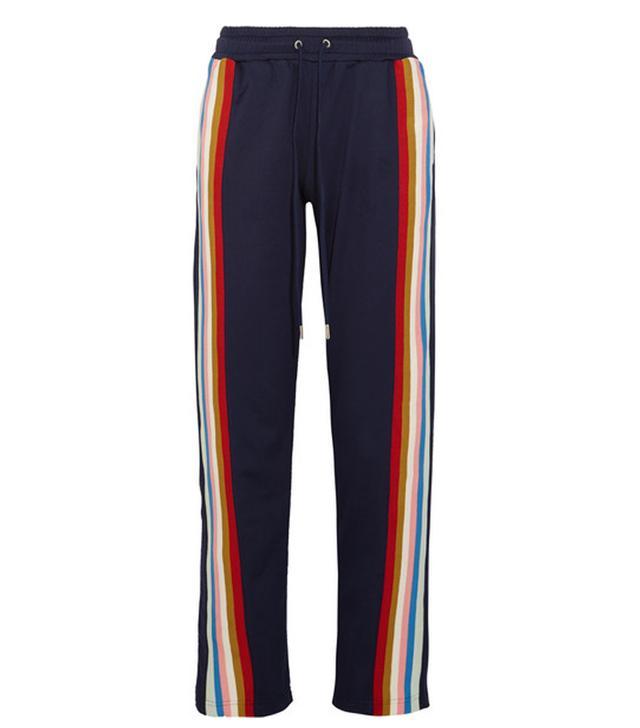 Alexa Chung Striped Jersey Track Pants