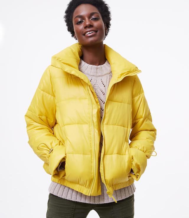 Loft Puffer Jacket in Electric Lemon