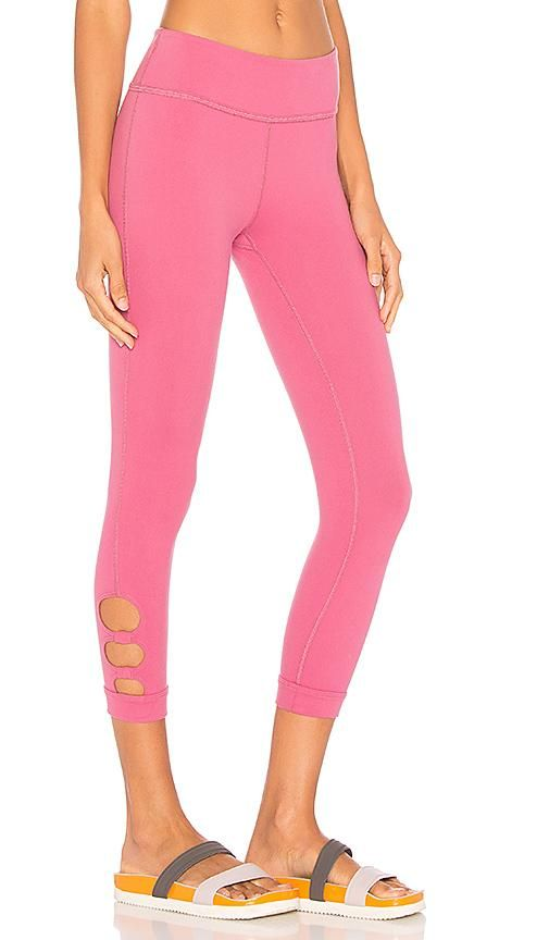 Full Circle Cut Out Capri Legging in Pink. - size M (also in L)