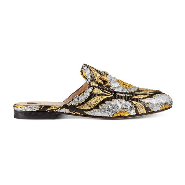 Princetown floral jacquard slipper