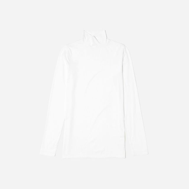 Women's Pima Stretch Turtleneck Sweater by Everlane in White, Size L