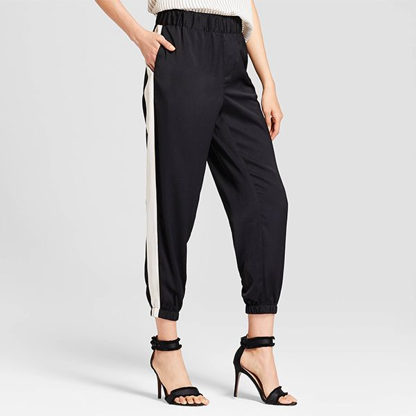 Who What Wear Satin Jogger Pants