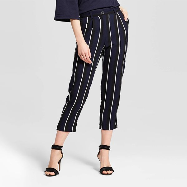 Who What Wear Relaxed Stripe Crop Pants