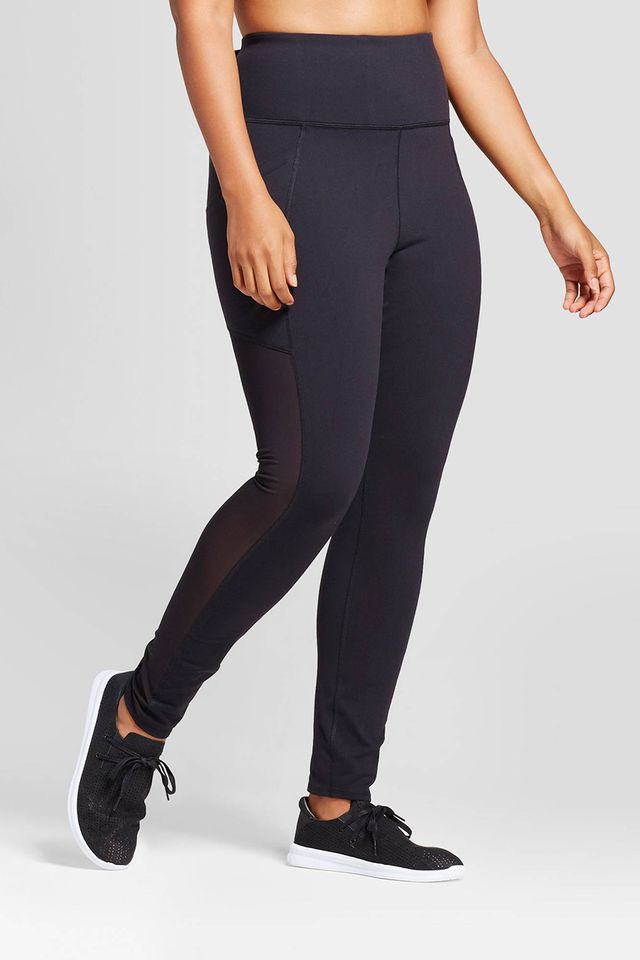 JoyLab High Waist Mesh Panel Leggings