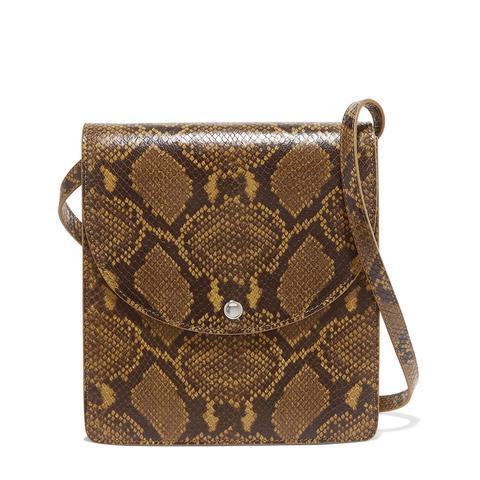 Eloise Snake-Effect Leather Shoulder Bag