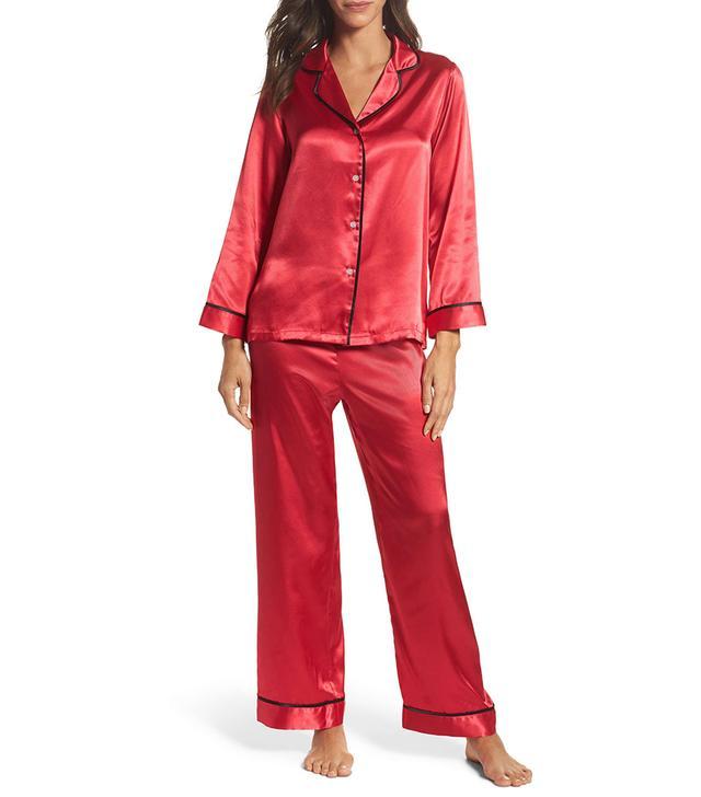 Women's Oscar De La Renta Sleepwear Charmeuse Pajamas