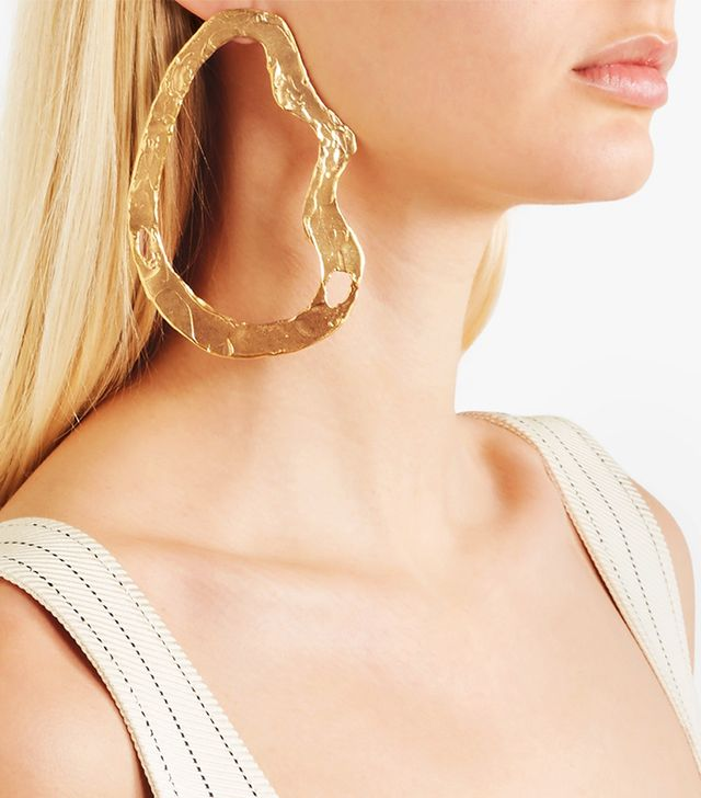The Fractured Cloud Gold-plated Earring