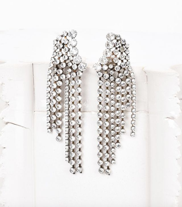 Isabel Marant A Wild Shore Earrings Adorned With Crystals