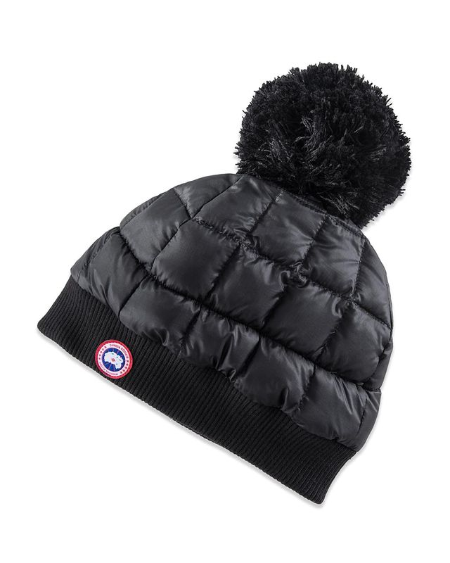 Down Pom Toque Hat