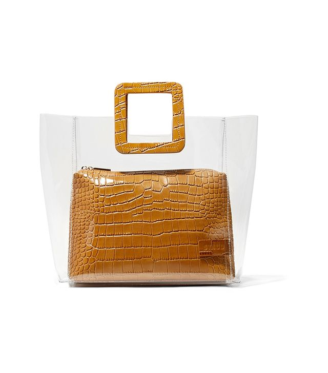 Shirley Croc-effect Leather And Pvc Tote
