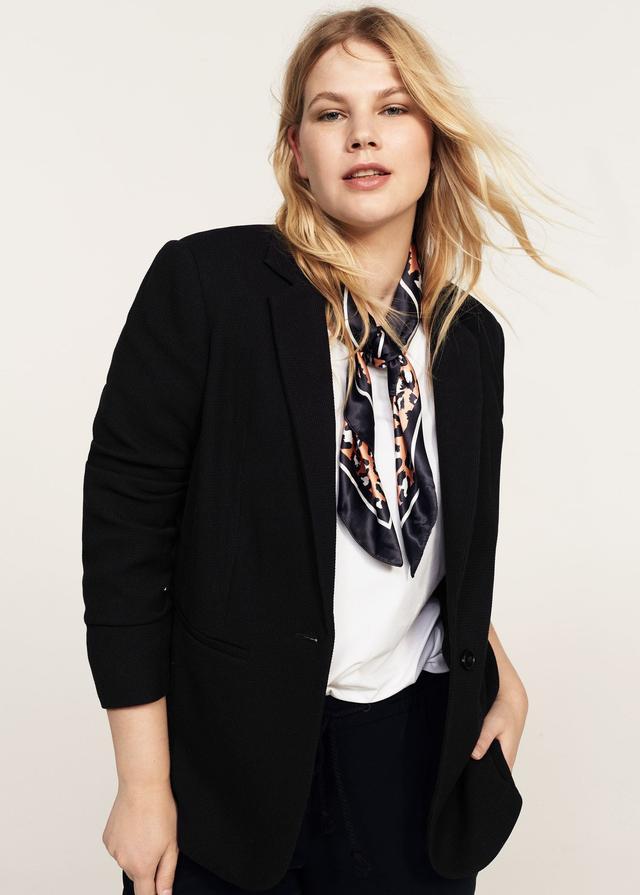 Structured textured blazer