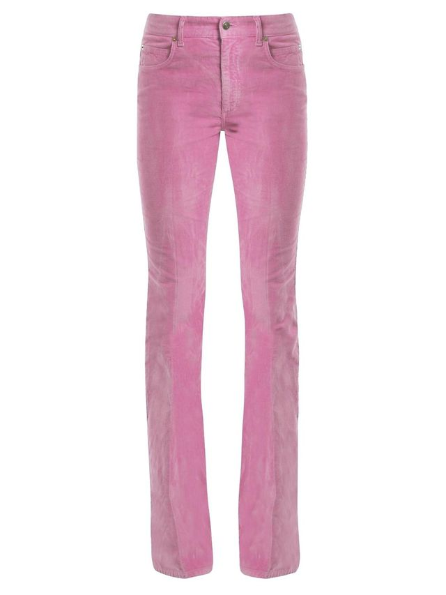 Mid-rise flared stretch-cotton corduroy trousers