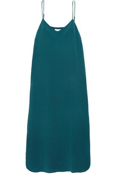Dian Washed-silk Midi Dress