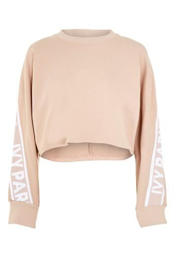 Cropped Knitted Logo Sweatshirt by Ivy Park