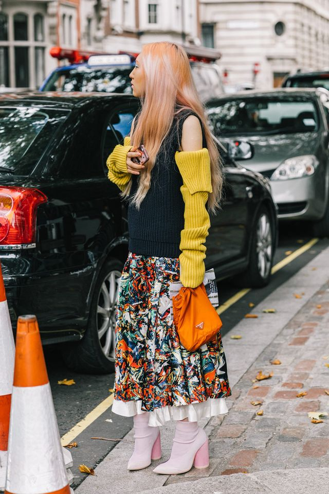 Who knew that yellow, orange, and pink could look so chic? Next, read about the heels fashion editors swear by.