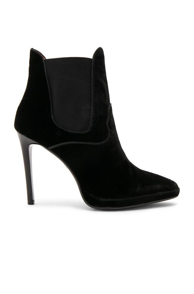 Velvet Bootie in Black. - size 36 (also in 40)