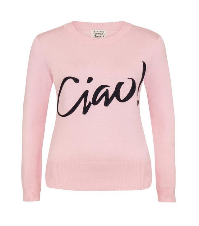 Joanie Clothing Concetta Ciao Slogan Jumper