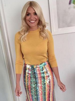 Holly Willoughby's £35 Jumper Is the Perfect January Pick-Me-Up