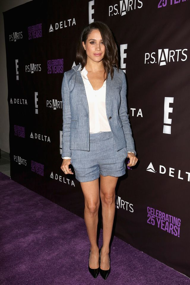 Markle is the queen of a matching short-and-blazer set (see slides eight and10 for more proof).