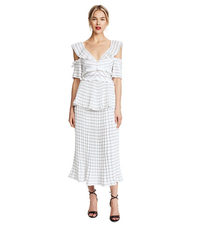 Monochrome Trimmed Dress